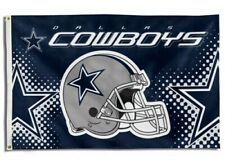 NEW Dallas Cowboys Helmet Flag Large 3'X5' NFL Banner FREE SHIPPING