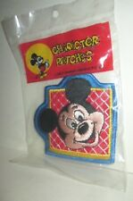 VINTAGE WALT DISNEY WORLD CHARACTER CLOTH PATCH MICKEY MOUSE MISP 1970'S WDP