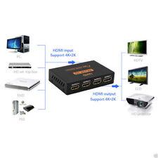 1 In 4 Out HDMI Splitter Amplifier Duplicator Switch Full HD 1080p 3D Foxtel DVD