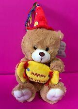 "6"" Brown Musical H. Birthday Bear Plush/ Stuffed Animal-Oso Cafe De Peluche-NEW"