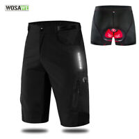Mens Summer Cycling Baggy Shorts MTB Mountain Bike Loose-Fit Sports Pants Pads