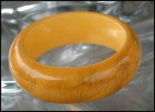 Thick Heavy Chunky Vintage Genuine Bakelite Bangle Butterscotch Bracelet