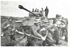 Postcard WW2 Germans Make a big effort to crush the Invasion June 1944 Tank 37Na