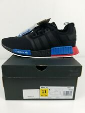 Adidas NMD R1 Black Lush Red Mens Shoes Triple Boost FX4355 Runner Size 11