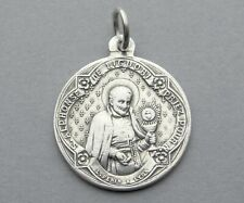 Antique Religious Silver Medal. Alphonsus Liguori. Virgin Mary, Jesus. By Penin.