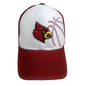Louisville Cardinals NCAA  ACC Adidas Red & White Size S/M Fitted Hat