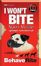 Mikki Nylon Dog Muzzle Size 1 Training Safety Scavaging