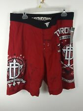 Throwdown By Affliction MMA Style Fighting trunks graphic print size 36 vintage