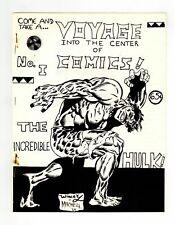 Voyage Into The Center of Comics Fanzine #1 VG 4.0 1969