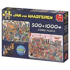 Let´s Party Jan van Haasteren Puzzle 19058 Jumbo 500 + 1000 Teile NEU OVP