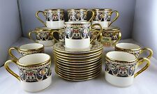 12 Lenox China Grand Tier Collection Lammermoor Demitasse Cup & Saucer Sets
