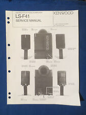 KENWOOD LS-F41 POWERED SUB SERVICE MANUAL ORIGINAL FACTORY ISSUE GOOD CONDITION