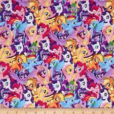 Hasbro My Little Pony Packed Pony Magic Multi Cotton 100% Half Yard 45cm x 110cm