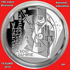 BRD**10 Euro** 2012 ** 100 Jahre Deutsche Nationalbibliothek **PP**Variante A**