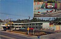 Readsport Oregon 1960s Postcard Western Hills Motel Swimming Pool