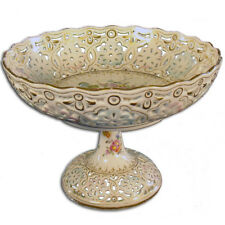 French Sèvres Hand Painted Latticed Compote - 1870's