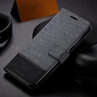 For Asus Zenfone 5 5z ZE620KL ZS620KL Flip Leather Canvas Wallet Card Case Cover