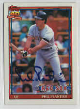 Phil Plantier 1991 Topps signed auto autographed card Boston Red Sox