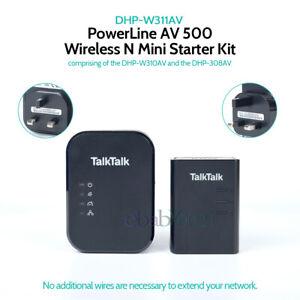 D-Link DHP-W311AV PowerLine adapter AV500 Wireless Mini kit DHP-W310AV DHP-308AV