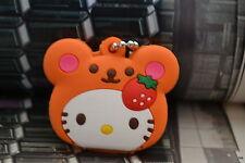 Hello Kitty Key Cap KeyChain-Cute Orange Strawberry Hello Kitty Key Cover Cap