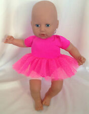 bright pink ballet tutu to fit baby born/annabel or similar size doll