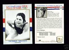 1991 OLYMPIC HOF DEBBIE MEYER SWIMMING CARD~ SACRAMENTO