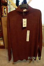 Men's Geoffrey Beene Zip Front L/S Sweater - NWT - Size XXL