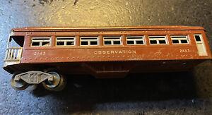 Lionel  #2443 BROWN OBSERVATION CAR