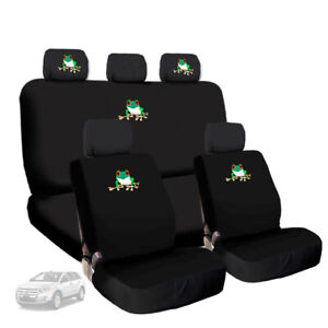 For Audi Frog Embroidery Logo Car Seat Covers with Headrest Cover Full Set