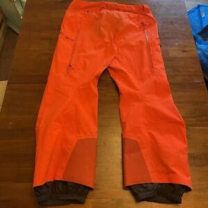 ARC'TERYX Gore Tex Pants Men's Snow Pants Snowboard Ski  Orange Size XL Beta