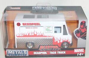 Metals Die Cast DEADPOOL TACO TRUCK Sealed NEW Jada 24078 Marvel 1/24