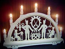 Originale Erzgebirge Arco di Natale Luci Candeliere Bergmann Merlettaia 10267