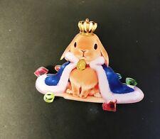 Funky Reale King Of Coniglio Corona Gemme Elegante Kitsch Spilla Stemma