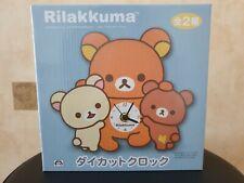More details for rilakkuma korilakkuma die cut clock toreba prize japan imports