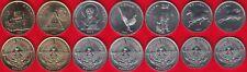 Nagorno Karabakh set of 7 coins: 50 luma - 5 drams 2004 UNC