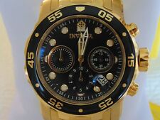 Invicta 48mm Pro Diver Scuba Chronograph 18K IP Gold Stainless Steel Watch L@@K!