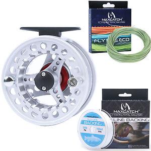 3/4/5/6/7/8WT Aluminum Fly Fishing Reel & WF Fly Line &Backing Fly Reel Combo