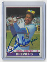 1979 BREWERS Cecil Cooper signed card Topps #325 AUTOGRAPHED AUTO Milwaukee