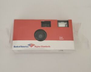 Rare Bank of America Disposable 35MM Flash Button CAMERA Sealed New