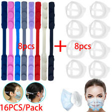 8PCS Face Mask Ear Savers Strap Extender, 3D Face Mask Bracket Mouth Holder