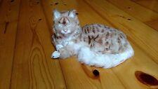 LIFESIZE CAT REALISTIC FURRY ANIMAL REPLICA FIGURINE Toy 230tn FREE SHIPPING USA