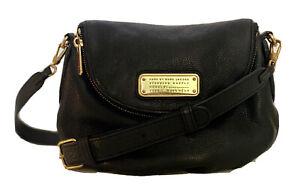 MARC BY Marc Jacobs Mini Q Natasha BLACK Leather Crossbody Bag RET $368