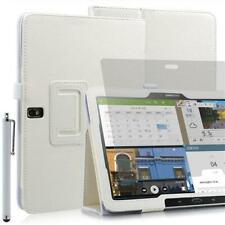 "Plegable Funda Tablet Para Samsung Galaxy Note Pro T520 Blanco 10,1"" + Pin +"
