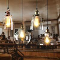 Modern Industrial Retro Chandelier Pendant Light Shade Loft Glass Ceiling Lamp
