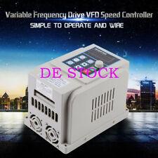 220V Einphasig VFD Drehzahlregler Frequenzumrichter für 1.5kW AC motor 3-phase