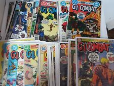 DC Comics bronze silver gi combat lot of 43 141-288 1957 series gd-fn  bagged
