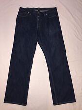36 Men's Sean Jean Blue Denim Button Fly Jeans 36X33 Straight Leg