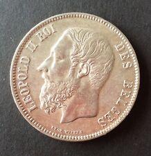 Belgique - Léopold II - Superbe monnaie de 5 Francs 1870
