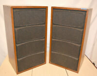 Vintage THE FISHER XP-56 2 WAY BOOKSHELF SPEAKERS Pair USA mid century modern #1
