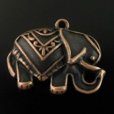 25pcs Red Copper Alloy Elephant Animal Pendant Charms Jewelry DIY Accessories